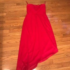 """Red Strapless Dressy Dress """"Stunning"""""""